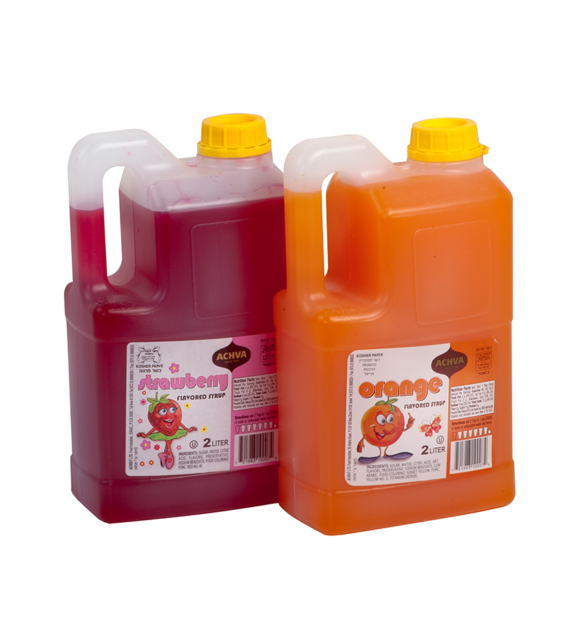 Sweet Syrup In Different Flavors